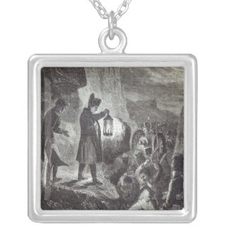 Napoleon extricating Lannes' Artillery Silver Plated Necklace