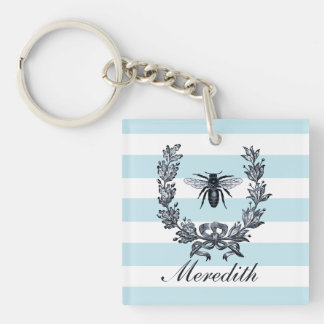 Napoleon French Revoloution Vintage Bee Image Keychain