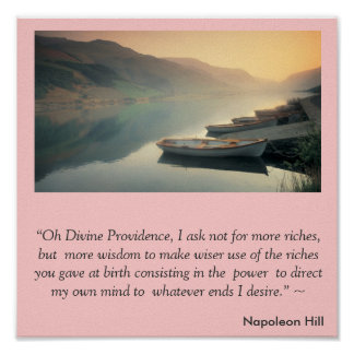 Napoleon Hill Magic Prayer Poster