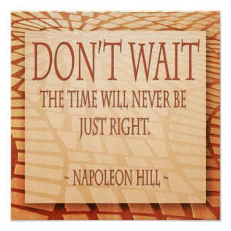 Napoleon Hill : : Motivational Quotes Posters print