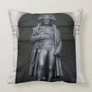 Napoleon I (1769-1821) in a Greatcoat, 1831-33 (br Throw Pillow