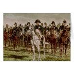 Napoleon I  and his Staff, c.1860 Card