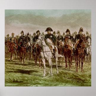 Napoleon I  and his Staff, c.1860 Poster