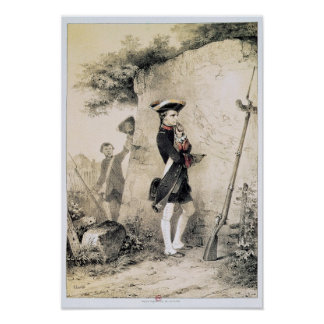 Napoleon I  at Military School Poster
