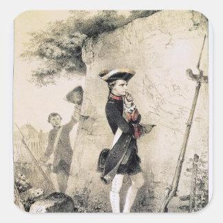 Napoleon I  at Military School Square Sticker
