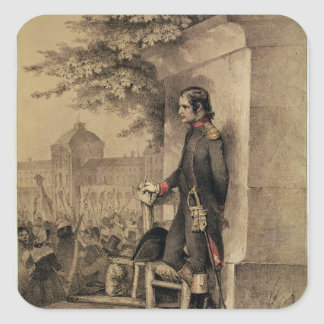 Napoleon I at the Siege of the Tuileries Square Sticker