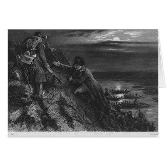 Napoleon I Bonaparte  crossing the River Card