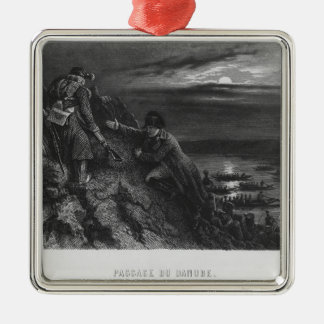 Napoleon I Bonaparte  crossing the River Metal Ornament