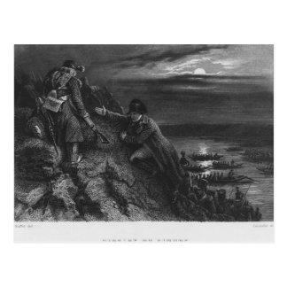 Napoleon I Bonaparte  crossing the River Postcard