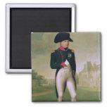Napoleon I delante del castillo francés de Malmais Imán Para Frigorífico