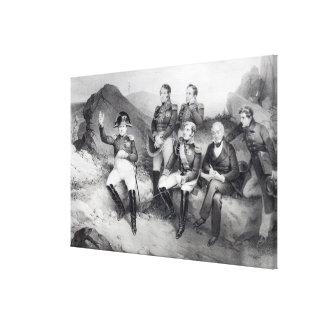 Napoleon I Dictating Memoirs to Emmanuel Las Canvas Print