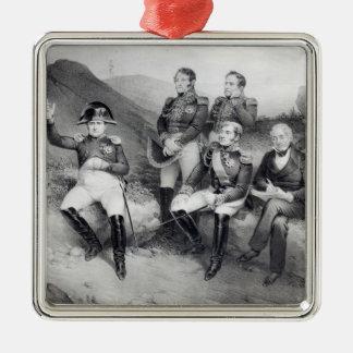 Napoleon I Dictating Memoirs to Emmanuel Las Metal Ornament