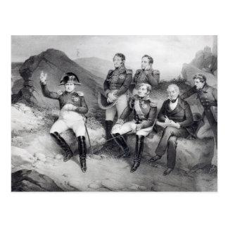 Napoleon I Dictating Memoirs to Emmanuel Las Postcard