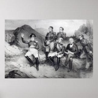 Napoleon I Dictating Memoirs to Emmanuel Las Poster