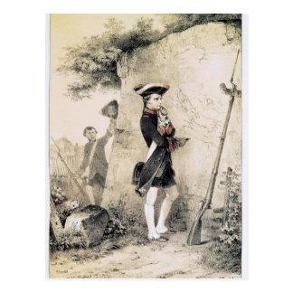 Napoleon I en la escuela militar Postales