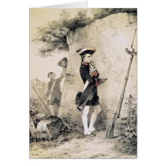Napoleon I en la escuela militar Tarjeta De Felicitación