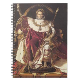 Napoleon I en su trono imperial Cuadernos