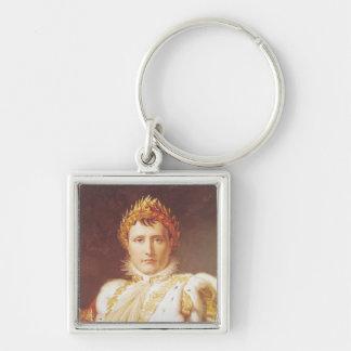 Napoleon I en trajes de la coronación, c.1804 Llavero Cuadrado Plateado