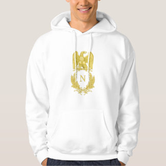 Napoleon I Imperial Eagle Motif on Hoodie
