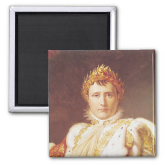 Napoleon I  in Coronation Robes, c.1804 2 Inch Square Magnet