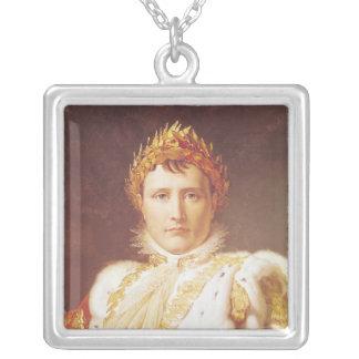 Napoleon I  in Coronation Robes, c.1804 Square Pendant Necklace