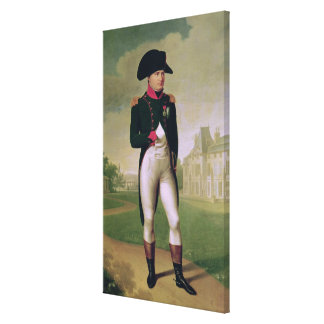 Napoleon I  in Front of the Chateau de Malmaison Canvas Print