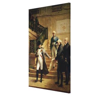 Napoleon I in the Palais Royal Canvas Print