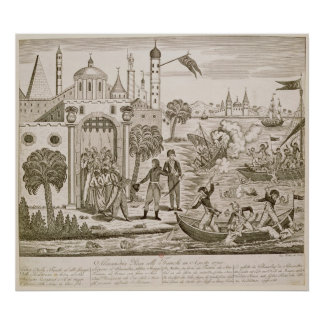 Napoleon I  Landing in Alexandria, 2nd July 1798 Poster