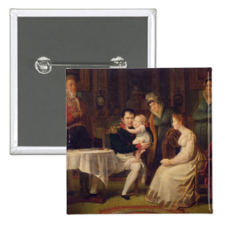Napoleon I  Marie Louise  and the King of Rome 2 Inch Square Button