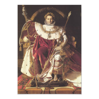 Napoleon I  on his Imperial Throne Card