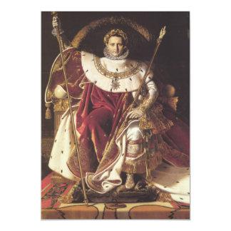 Napoleon I  on his Imperial Throne 5x7 Paper Invitation Card