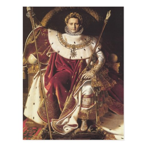 Napoleon I  on his Imperial Throne Postcards