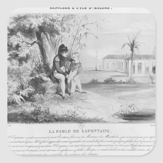 Napoleon I  on the island of St. Helena Square Sticker