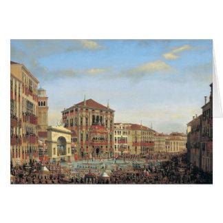 Napoleon I  Presiding over a Regatta in Venice Card