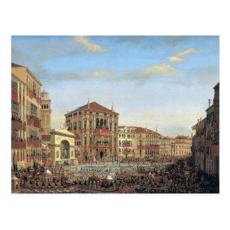 Napoleon I  Presiding over a Regatta in Venice Postcard