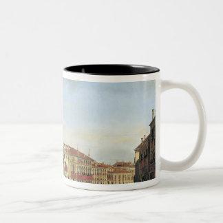Napoleon I  Presiding over a Regatta in Venice Two-Tone Coffee Mug
