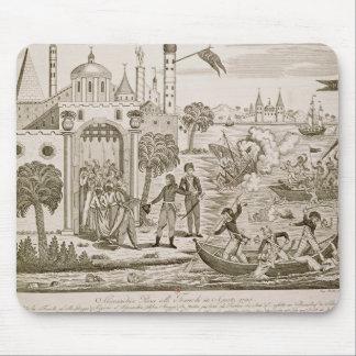 Napoleon I que aterriza en Alexandría, el 2 de jul Alfombrillas De Ratones