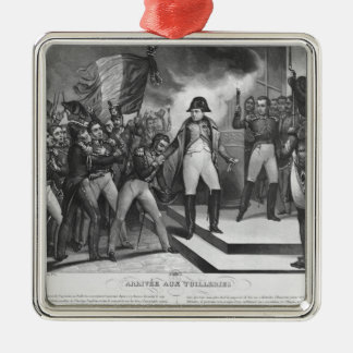 Napoleon I que llega el Tuileries Adorno Navideño Cuadrado De Metal