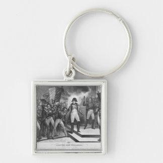 Napoleon I que llega el Tuileries Llavero Cuadrado Plateado