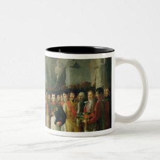 Napoleon I que recibe a los diputados Tazas