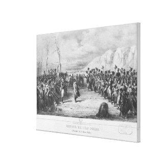 Napoleon I que vuelve de Elba Lona Estirada Galerías