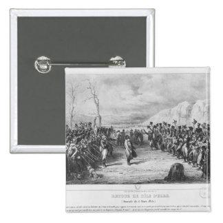 Napoleon I que vuelve de Elba Pin Cuadrado