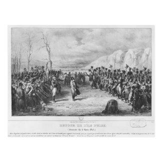 Napoleon I que vuelve de Elba Postal