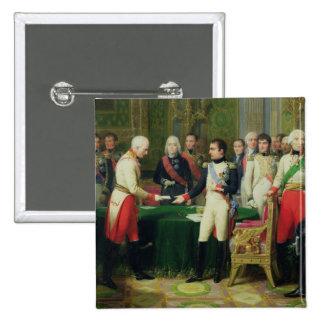 Napoleon I  Receiving Baron Vincent 2 Inch Square Button