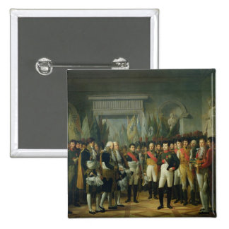 Napoleon I  Receiving the Deputies 2 Inch Square Button