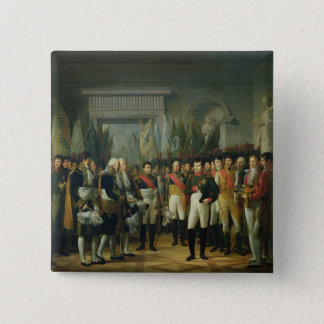 Napoleon I  Receiving the Deputies Button