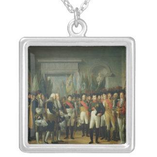 Napoleon I  Receiving the Deputies Square Pendant Necklace
