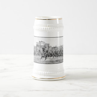 Napoleon I Reviewing His Troops 18 Oz Beer Stein