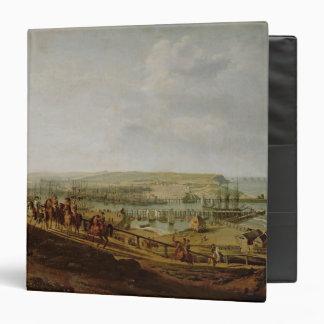 Napoleon I  Visiting the Camp at Boulogne 3 Ring Binder