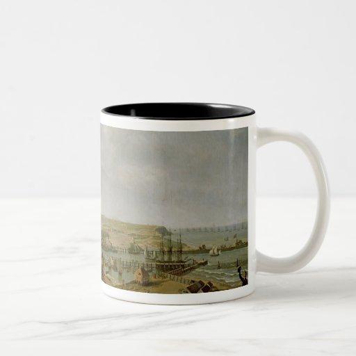 Napoleon I  Visiting the Camp at Boulogne Two-Tone Coffee Mug